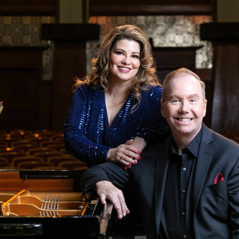 with Dana Brown (pianist); photo by Elliot Mandel