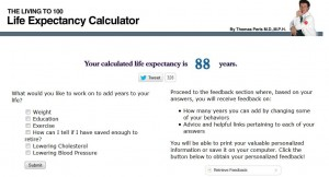 Living to 100 Life Expectancy Calculator