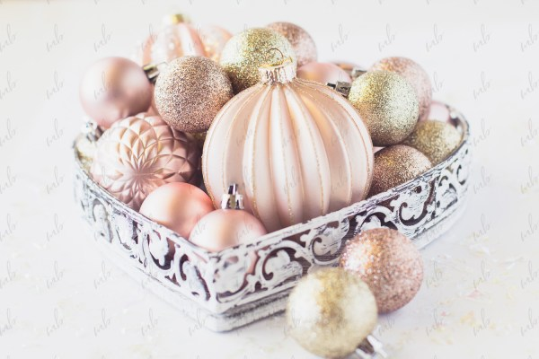 Styled Stock Photo - Pink & Gold Christmas #09