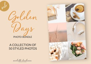 Golden Days stock photo bundle