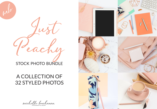 Just Peachy stock photo bundle by Michelle Buchanan Photography & Design