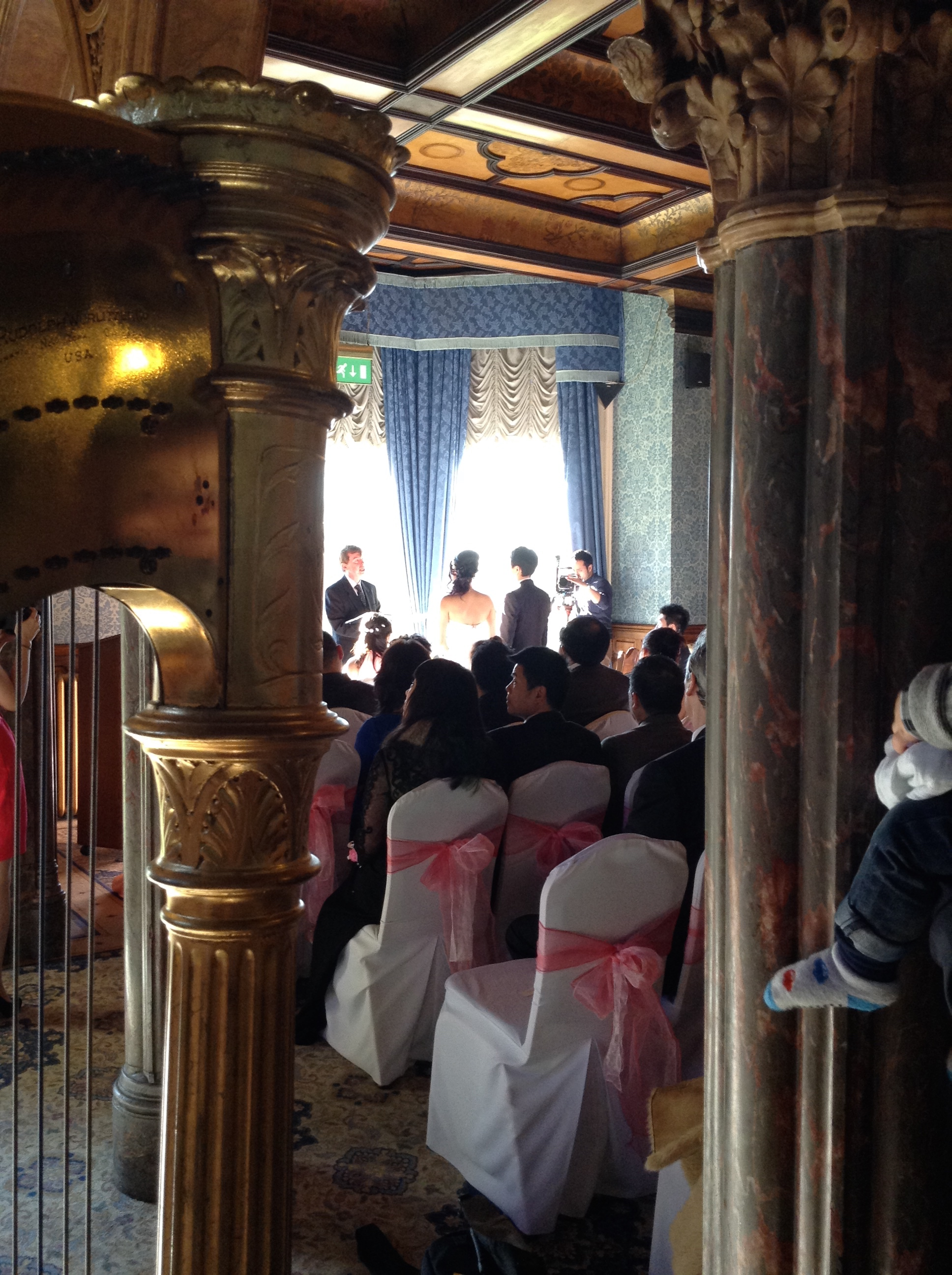 Harpist for wedding at Highbury Hall