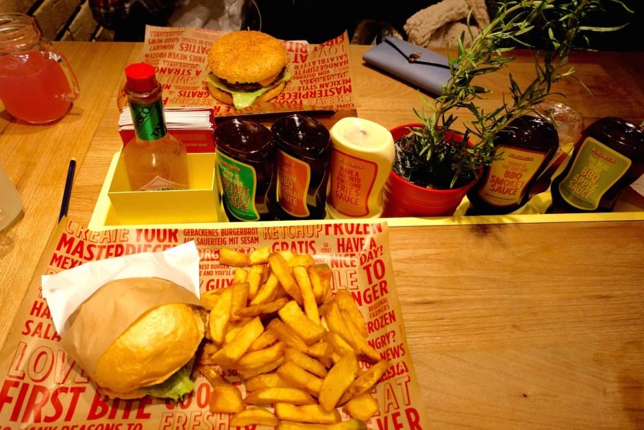 Dinner at Burgerista Salzburg