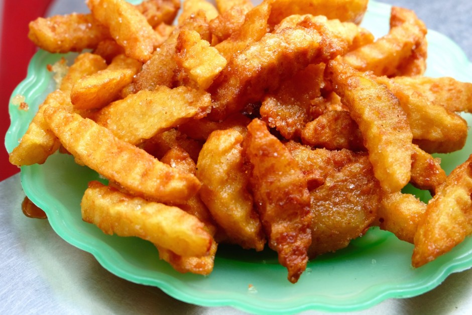 Fried potato with sugar