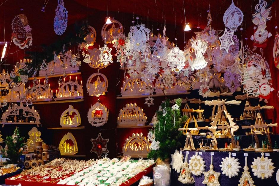 Shopping in Basel Christmas market