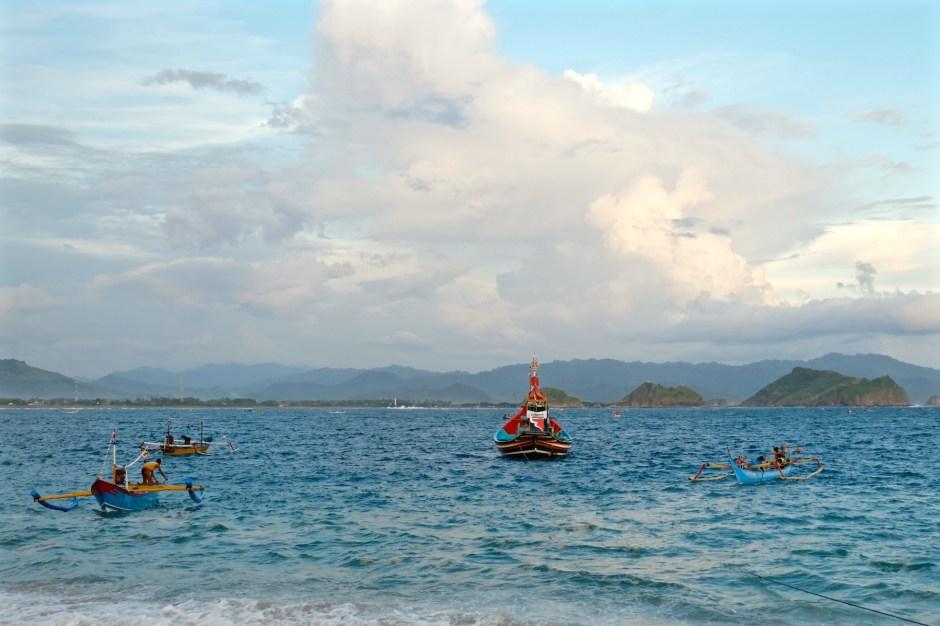 Fishermen in Watu Ulo