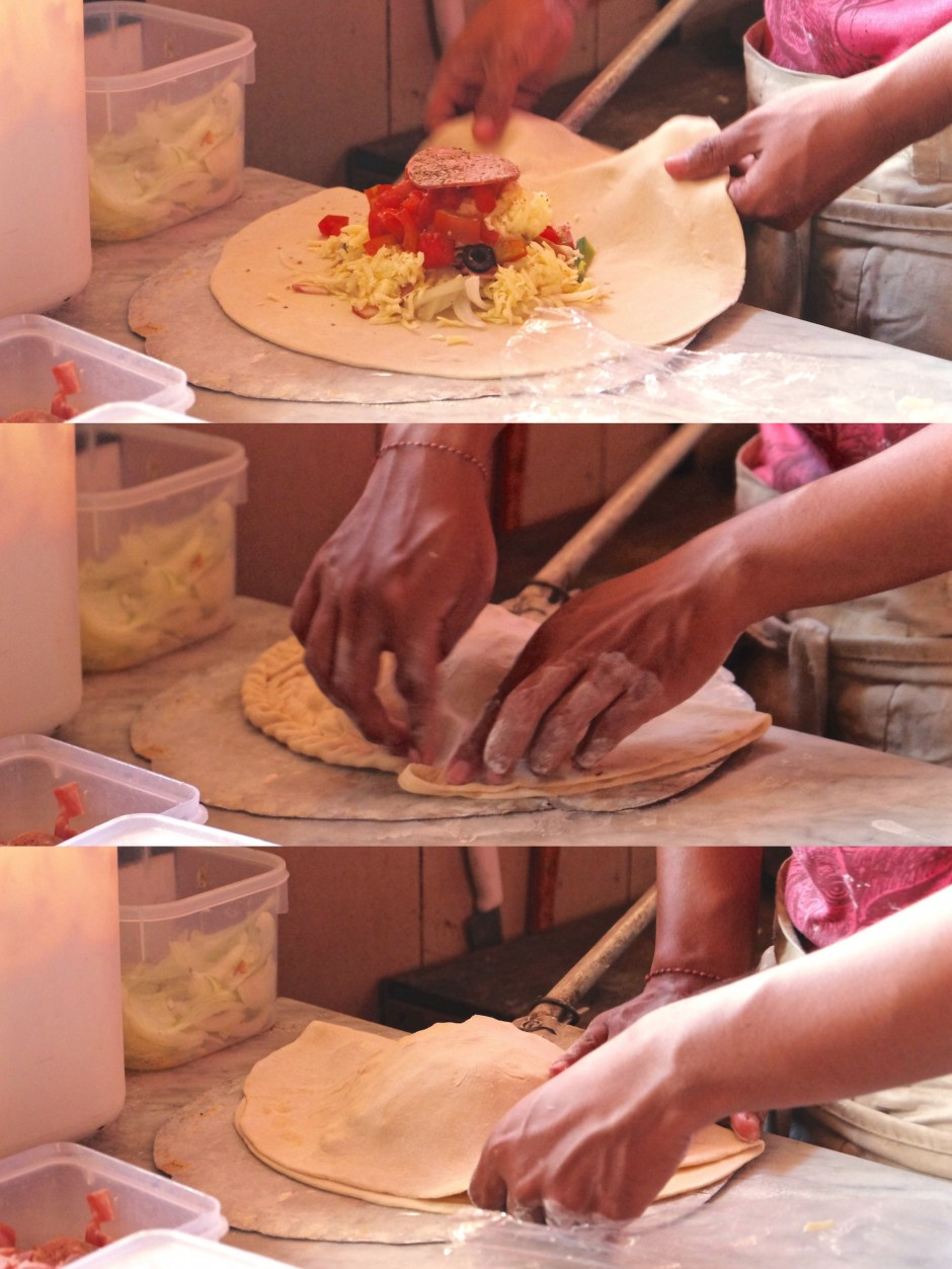 Calzone step by step