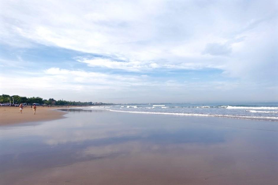 Reflection in Kuta Beach