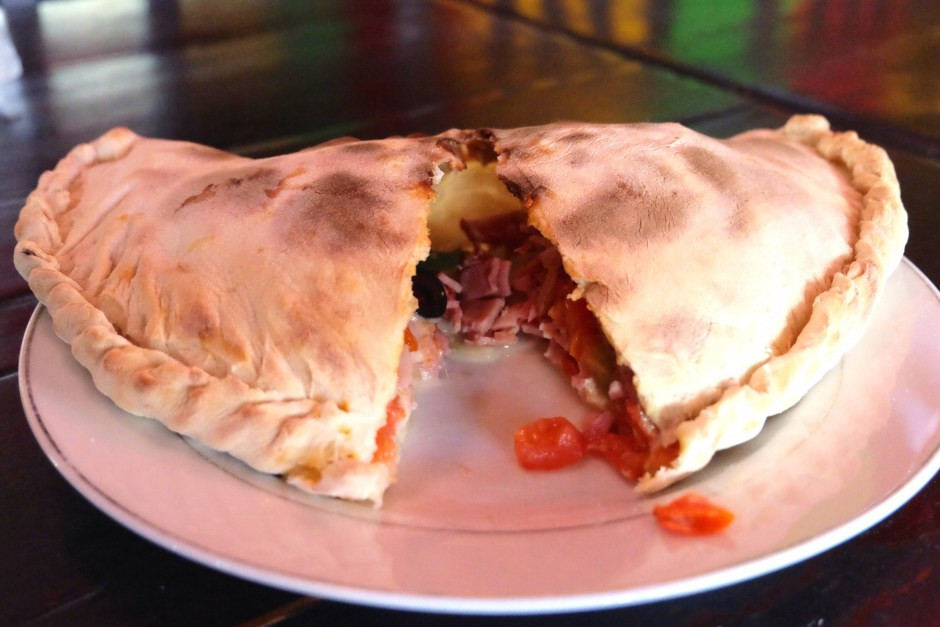 Sliced Calzone