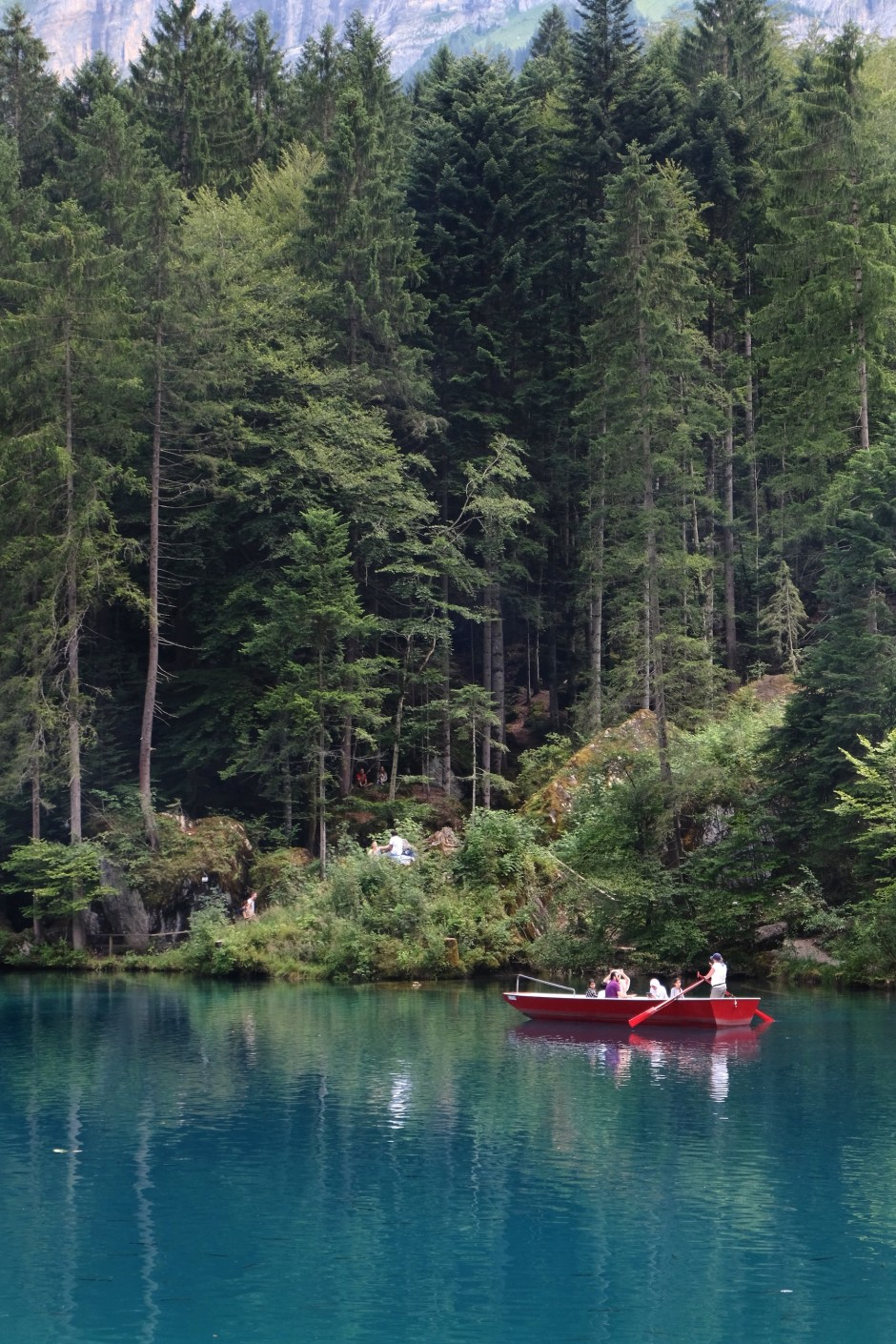 Boat on Lake Blausee