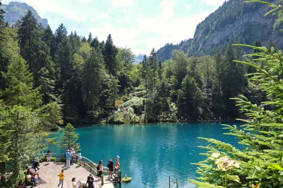 Lake Blausee View from Above