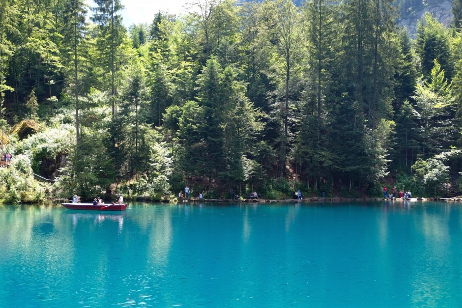 Lake Blausee in Swiss