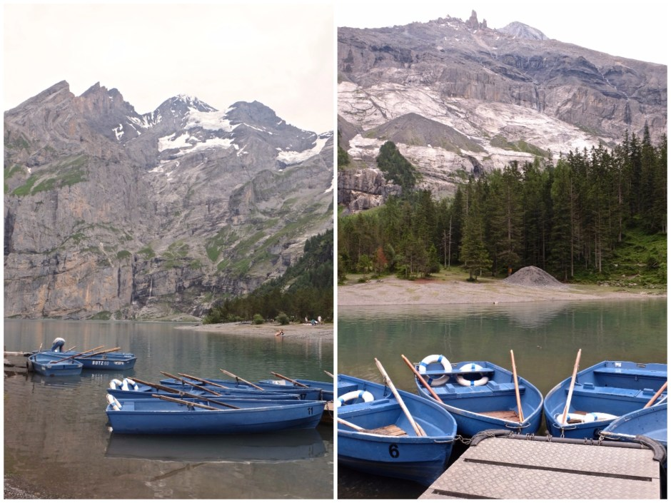 Boats in Lake Oeschinensee
