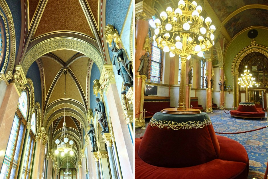 Inside Hungarian Parliament Building