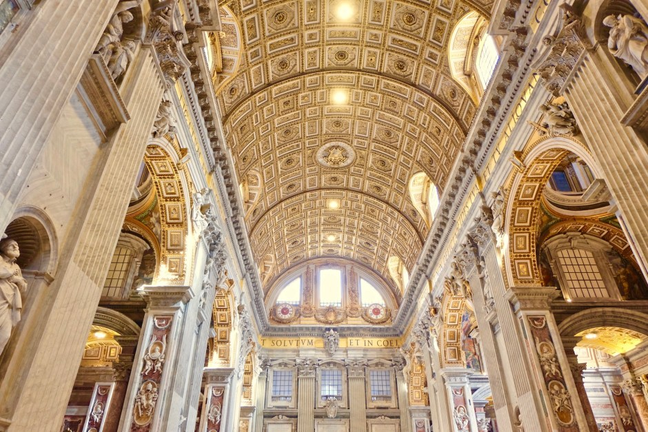 Inside St. Peter Basilica