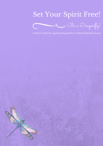 Cover of my new Prayer Guide, a Companion book to Dragonfly Theology