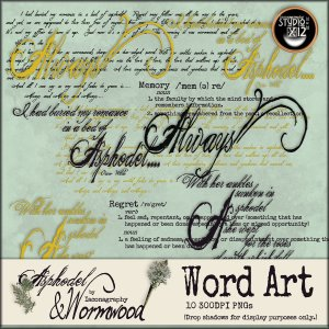 asphodelandwormwoodwordartdisplay