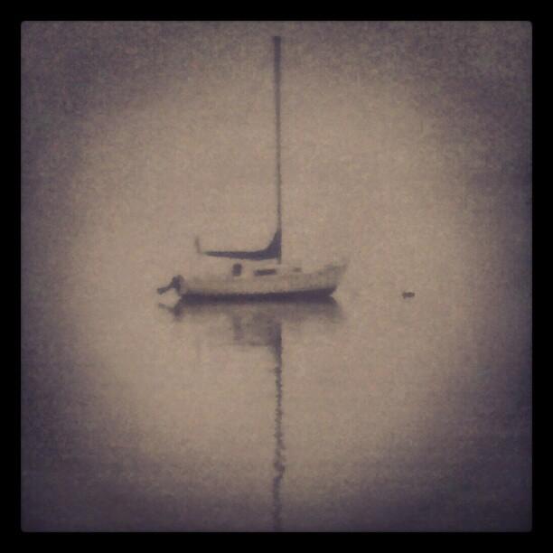 Sailboat #forttotten #fog #stillness #Bayside #NYC #Queens #boat #sailboats #sailing