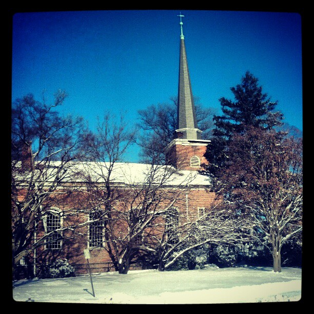 New England or New York ?  #photography #snow #church #Queens