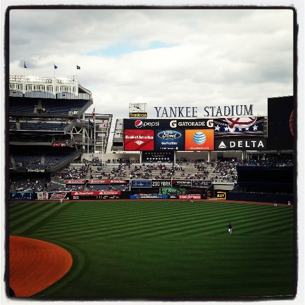 Excited to be at The House That Ruth Built.  Thanks @tradebklyn for the tickets ! #attyankees