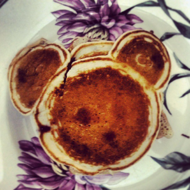 Mickey Mouse Pancake for Mother's Day #photography #cute #food
