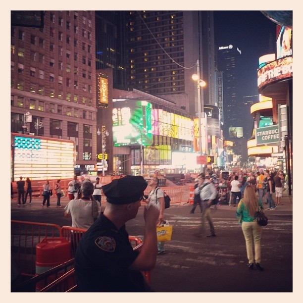 Times Square on the eve of 9/11 #newyork #neverforget