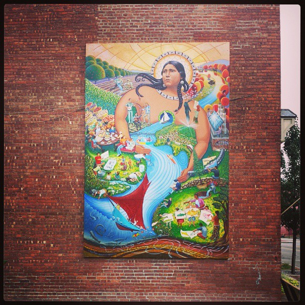 Mermaid, Beacon NY #photography #mural #mermaids