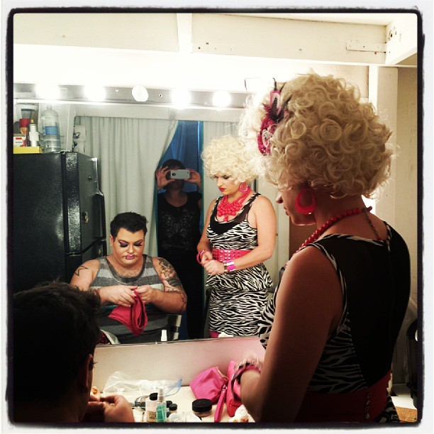 Getting ready for the shoot #thehausofmimosa #studio #comedy #newyork