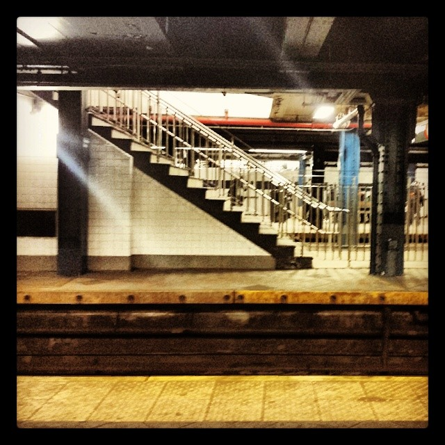 Subway stairs #newyork #mta #transportation #train #travel
