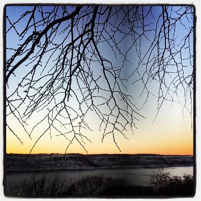 The Hudson River & Palisades #winter #sunset #landscape #hercules #snowscape #pretty #adoramapix