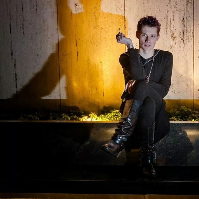 Portrait of Seth David Lord #portrait #music #musician #singer #goth #shadow #newyork #nofilter #adoramapix