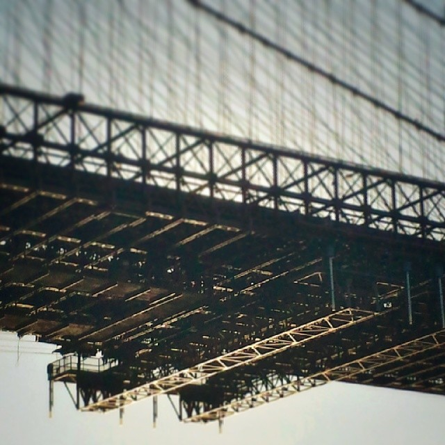 Underside of the Brooklyn Bridge #Brooklyn #landmark #newyork #photography
