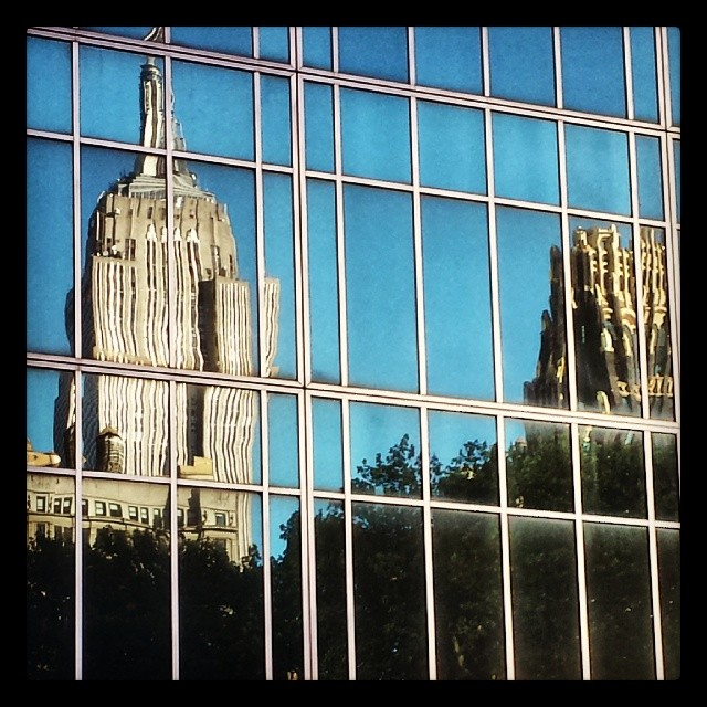 Empire State Building Reflection #empirestate #landmark #newyork #bryantpark