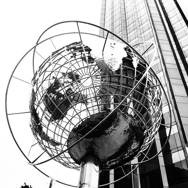The Globe, Columbus Circle #newyork #landmark #cityscape #blackandwhite