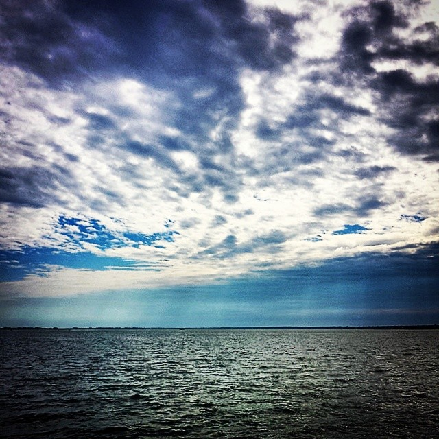 Shinecock Sky #hamptonbays #hamptons #dramatic #landscape #seascape #bay #art #beauty #beach #nature #blue
