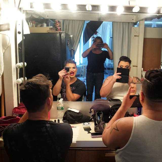 The Haus of Mimosa in my studio getting pretty for their photo shoot #hausofmimosa #photography #drag #dragqueens #dragnyc #photoshoot #showgirls