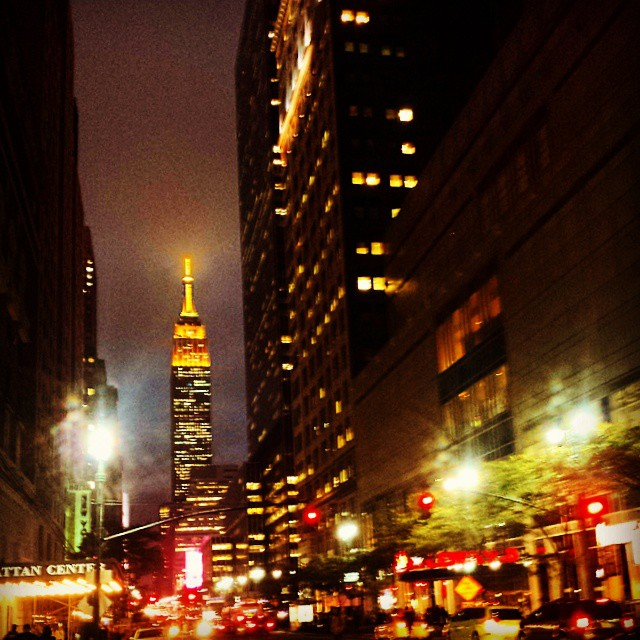 Empire State Building in Gold #empirestate #landmark #newyorkcity # gorgeous