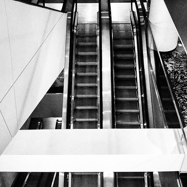 Escalators #midtown #timessquare #westinhotel #architecture #bw