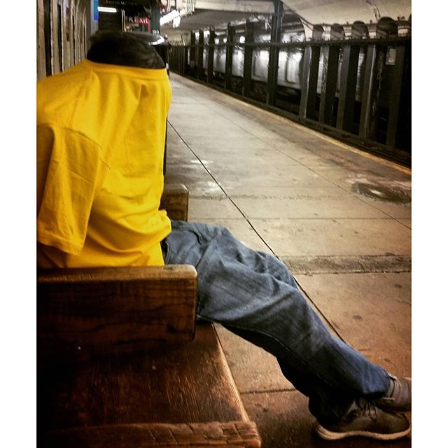 Sometimes we need some alone time while riding the #subway.  #mta #NYC #hilarious #people #photography #privacy