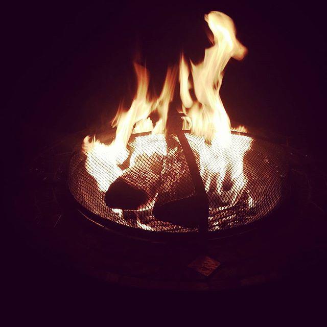 Halloween Firepit #halloween #samhain #lastfireoftheseason #goodbyesummer #warmth