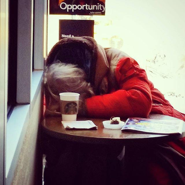 Naptime At #starbucks #guessthecaffeinedidntwork #sleepy #dayoff