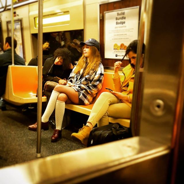 Subway style #mta #kneesocks #the90sareback #atrain #streetsyle