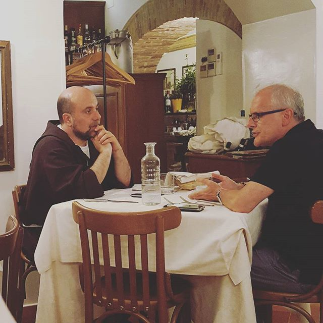 Every Franciscan deserves a night out now and then. #assisi #chebellaumbria #simangiabene #franciscanism #stfrancis #franciscanfriars #sanfrancesco