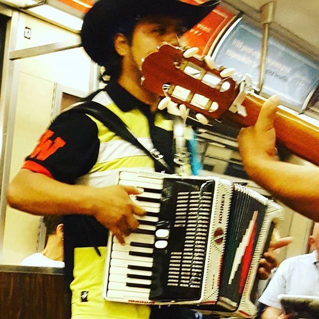 Pretty sure my #subway #musician this morning is wearing a #wesleyan shirt.  #gocardinals #yaymiddletown #redandblack