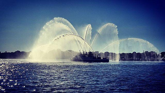 Fireboat Fun #greenportharbor #greenport #maritimefestival #maritimefestival2017 #northfork #nofo