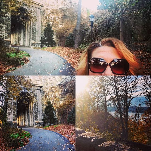 Location Scouting For My Next #Portrait Shoot #newyorkportraitphotographer #newyorkportraits #forttryonpark #nyc #fallcolors #amazing #brbchasinglight