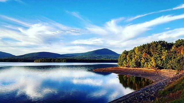 Ashokan Reservoir At Sunset #catskills #ulstercounty #upstatenewyork #beauty #nature #woodstock #newyork #newyorkstate