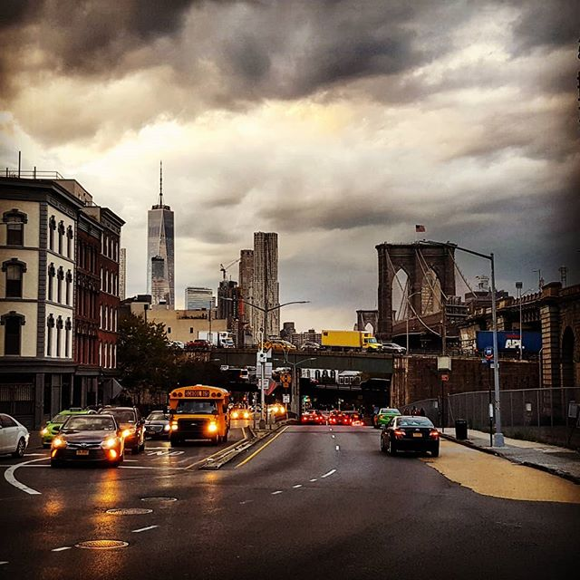No Sleep 'Til Brooklyn #brooklyn #brooklynbridge #newyorkphotographer #newyorkcity #dumbo #clouds #drama #autumninnewyork