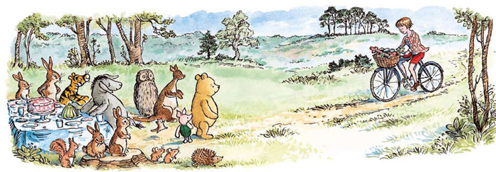 hundred acre wood art