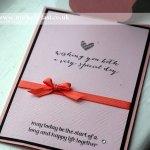 Handmade wedding card using stampin up supplies
